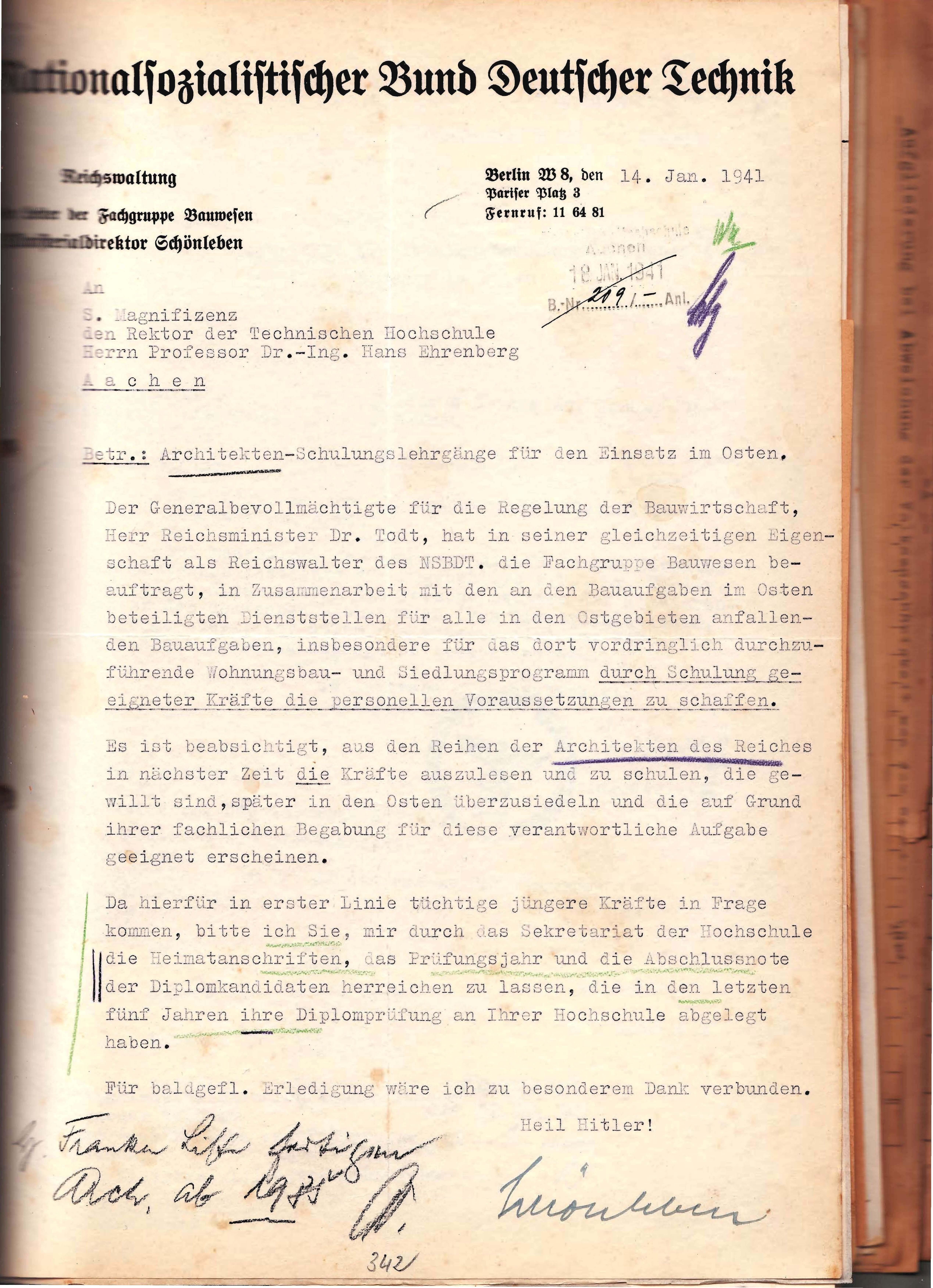 Akte 378 Arbeitseinsatz im Osten 1941