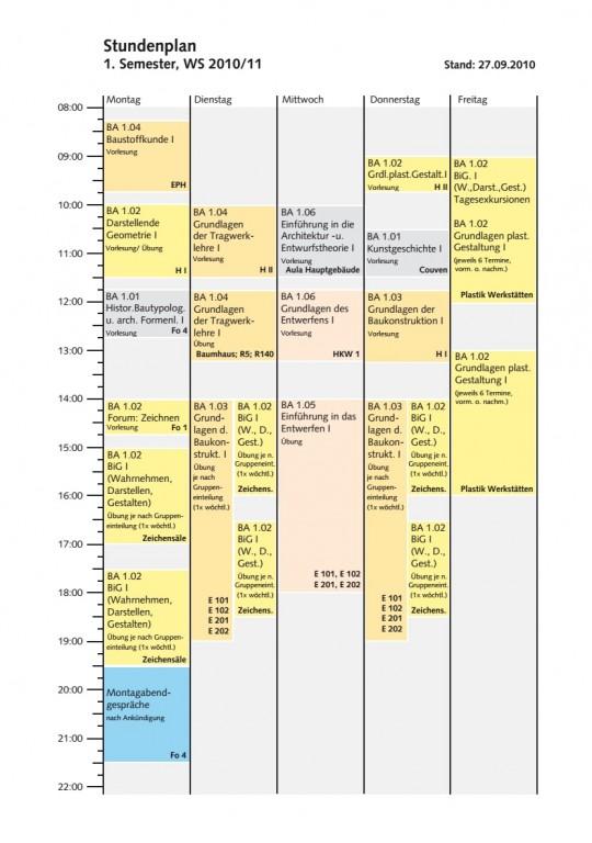 PräArch_Vitrine_001_Obj5_Stundenplan