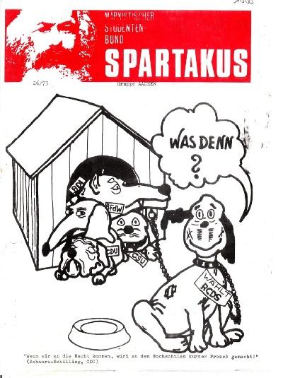 Kalenderbild August: Marxistischer Studentenbund Spartakus