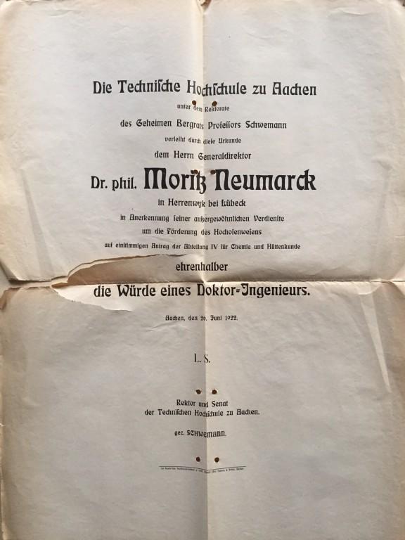 Urkunde-Neumarck