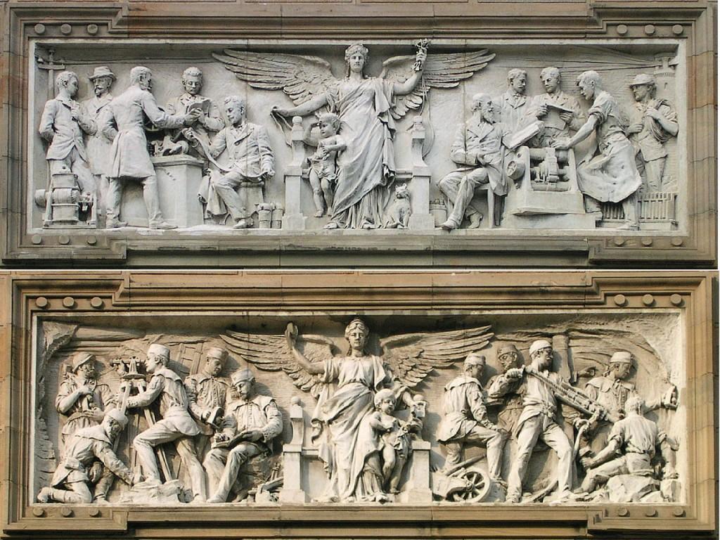 https://de.wikipedia.org/wiki/Karl_Krau%C3%9F#/media/File:Aachen_Bergbaugeb%C3%A4ude_Reliefs.jpg  CC BY-SA 3.0