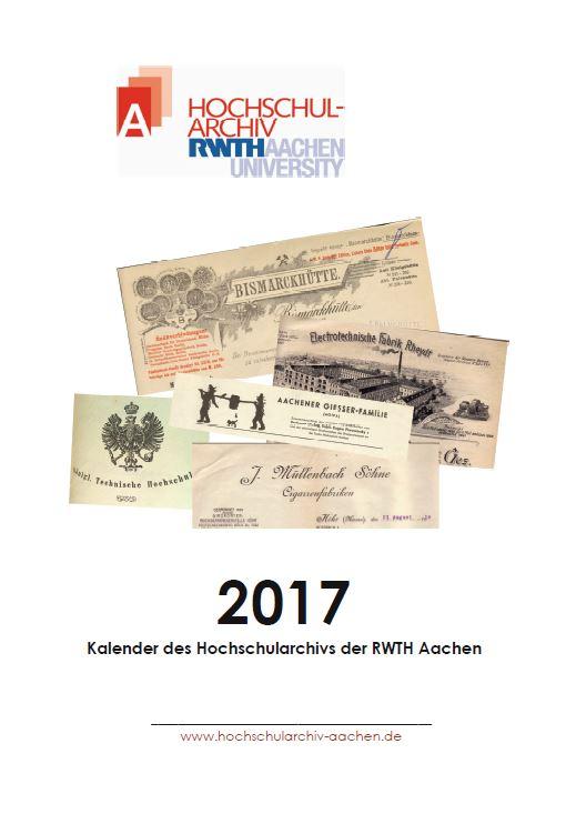 Das Deckblatt des Archivkalenders für das Jahr 2017