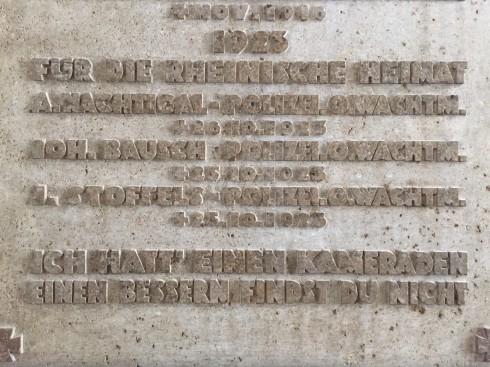 Sig. Hochschularchiv - Inschrift