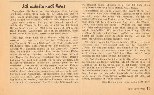 Sig 122b Deutsche Universitätszeitung 1949 Seite 15 -geschnitten
